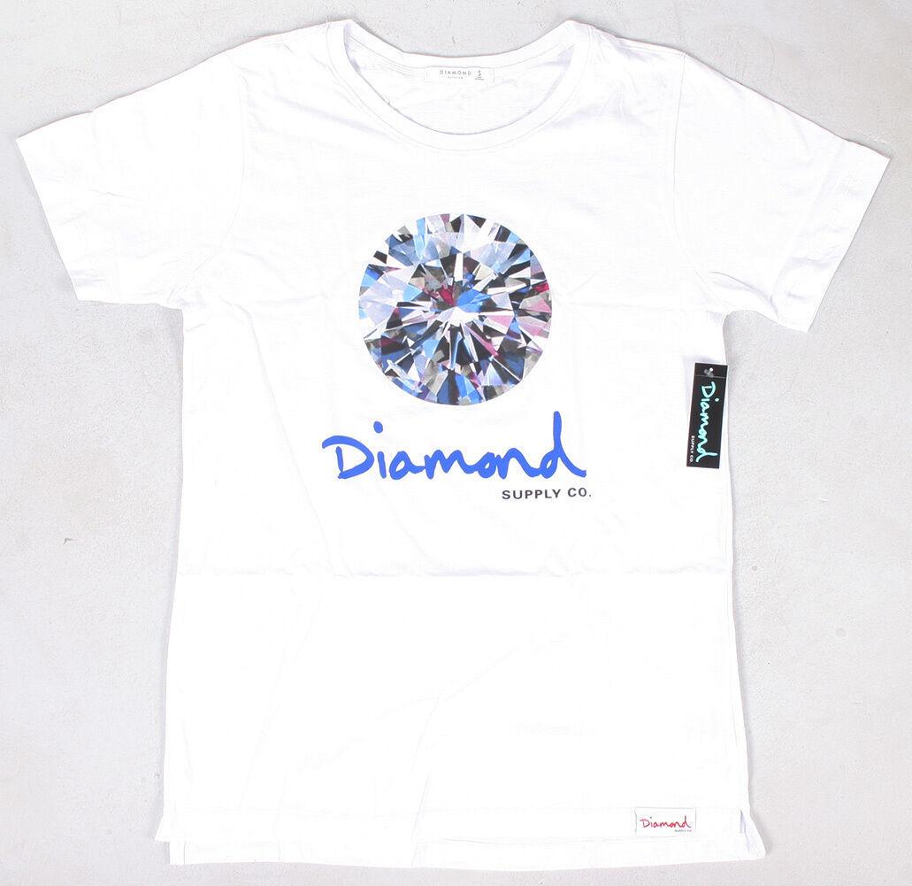 Diamant Supplly Co. Homme Blanc Brillant Tee Nwt