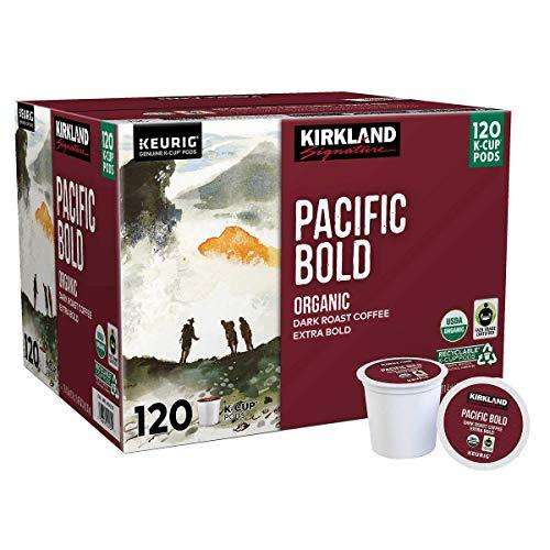 Kirkland Signature Organic Pacific Bold Dark-Roast Coffee, 120 K-Cup Pods - SET  - $112.93