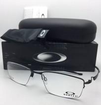 Nuevo Oakley Gafas Lagarto Ox5113-0156 56-18 135 Semimontura Negro Satinado - $209.54