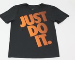 Nike Men's Cotton Swoosh Logo Just Do It Graphic T-Shirt Black | Small