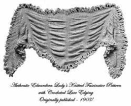 Old Edwardian Lady's Knit & Crochet Shawl Pattern 1903! - $4.99