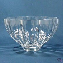 "MIKASA ""ICELAND"" XYO28/725 CRYSTAL BOWL MADE IN SLOVENIA CLEAR 10"" DIAME... - $64.45"