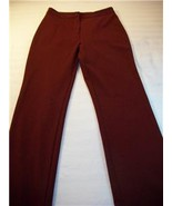 WOMEN B. MOSS BURGUNDY PANTS SIZE 4 - $11.25