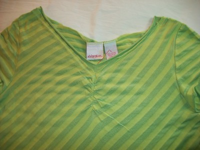 Primary image for WOMEN XHILARATION TOP SHIRT L LARGE GREEN & LIME GREEN