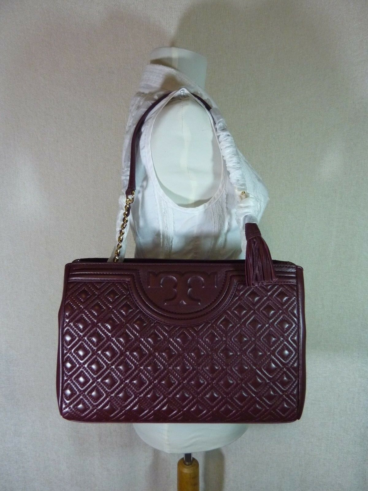 Primary image for NWT Tory Burch Port Royal Fleming Open Shoulder Tote