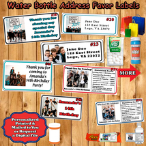 Why Don't We Birthday Labels 1 Sheet Address Favor Water Bottle Personalized - $5.75
