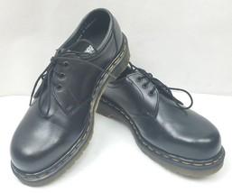 Vintage Dr.Martens 151 Steel Toe Safety Black Leather Oxford Shoes Size: 8 - $84.83