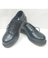 Vintage Dr.Martens 151 Steel Toe Safety Black Leather Oxford Shoes Size: 8 - $84.83