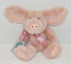 "NWT THE BOYD'S 10"" JOINTED POSEABLE PINK FLOPPY EAR PIG  - $13.99"