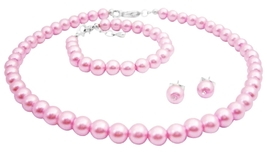 Rose Pearls Jewelry Baptism Pearls Jewelry Inexpensive Jewelry - $13.38