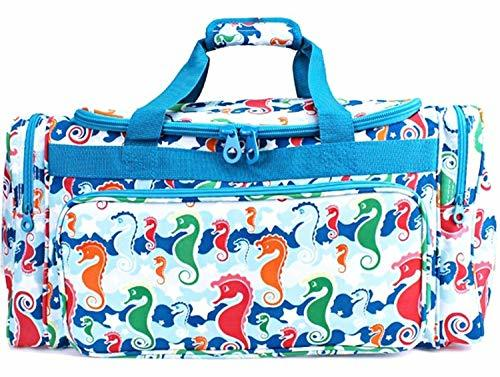 "23"" Nautical Seahorse Duffle Bag Travel Luggage"