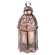 Moroccan Lantern, Rustic Outdoor Lantern, Copper Decorative Candle Lanterns - $21.68
