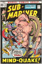 The Sub-Mariner Comic Book #43 Marvel Comics 1971 FINE+ - $12.59
