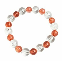 Pink Clear Beaded Stretch Bracelet Handmade Handcrafted Costume Jewelry Gift - $9.99