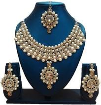 Indian Bollywood Choker Golden Pearls Kundan Bridal Fashion Jewelry Neck... - $16.84