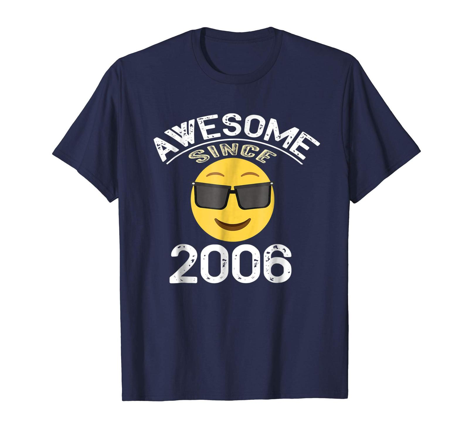 Primary image for Brother Shirts - Awesome Since 2006 Emoji Shirt - 12nd Birthday Gift Tee Men