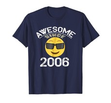 Brother Shirts - Awesome Since 2006 Emoji Shirt - 12nd Birthday Gift Tee... - $19.95+