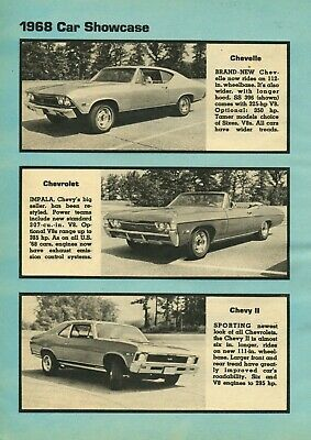 Primary image for 1968 Chevy Car show case line up 24x36 inch poster |