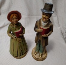 CHRISTMAS CAROLERS VTG. PAPER MACHE MADE IN JAPAN 1950'S - $9.99