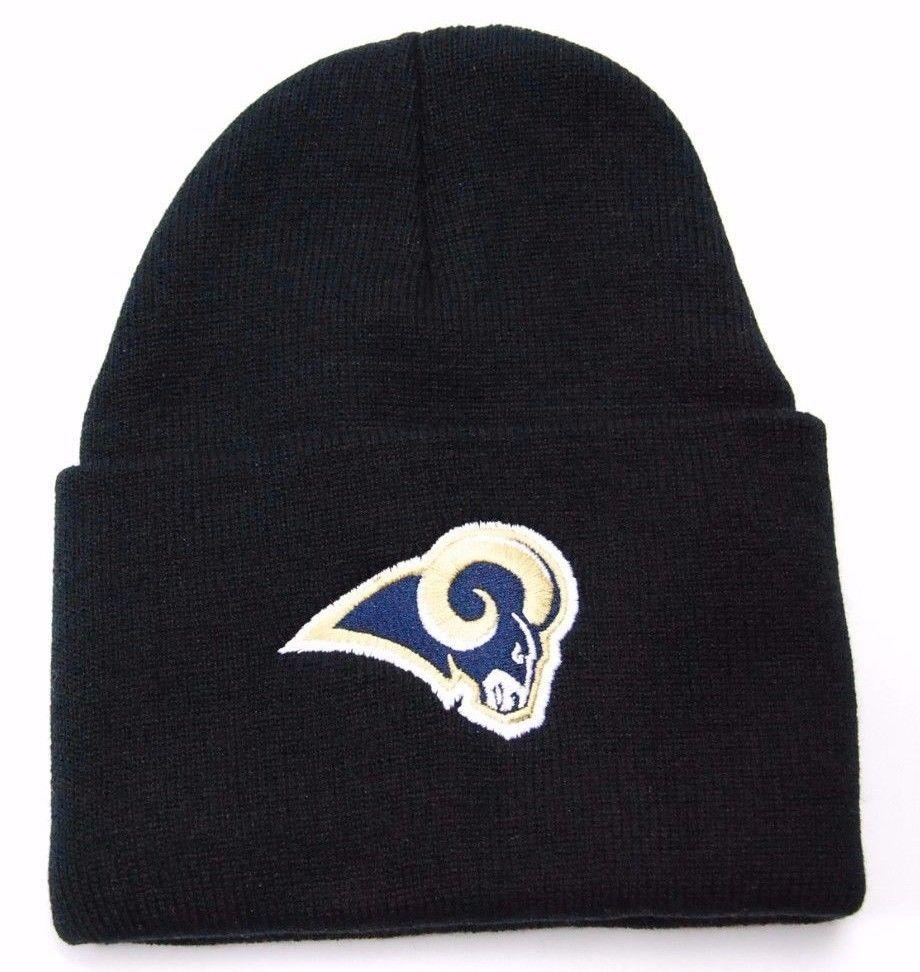 St. Louis Rams NFL Team Apparel Team Logo Cuffed Knit Football Winter Hat/Beanie