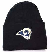 St. Louis Rams NFL Team Apparel Team Logo Cuffed Knit Football Winter Ha... - $16.14