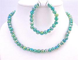 Girls Gift Jewelry Return Gift Dark Green Round Beads Affordable Price - $9.48