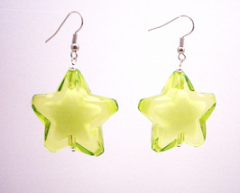 Stylish Girls Jewelry Fashionable Peridot Star Earrings - $5.58