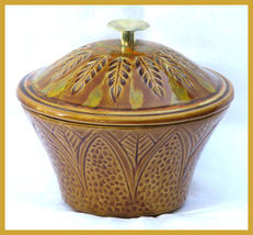 California Original Pottery Tan Orange Cookie Jar  - $37.00