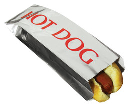 Hot Dog Hotdog Foil Bags for Concession Use 1000 case - $45.45