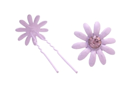 Cheap Hair Jewelry Amethyst Crystal Hair Pin Purple Hair Accessories - $8.83