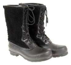 Hunter Women's Original Shearling Boots in Black Size 9 $295 New - $128.69