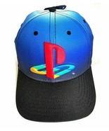 Sony Playstation Original Logo Flexfit Hat Baseball Cap Blue & Black - New  - $26.72