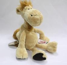 NICI Camel Brown Beige Animal Plush Stuffed Animal Beanbag Dangling Came... - $24.00