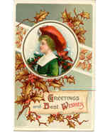 Greetings and Best Wishes Ellen Vintage Clapsaddle Post Card - $7.00