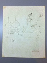Signed Ink Drawing Still Life of Kitchen Counter & Countertop by Sheila ... - $12.88