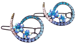 Bridesmaid Blue Hair Accessories Inexpensive Affordable Crystals Clip - $8.18