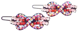 Bow Shape Hair Barrette Rose Hair Clip - $8.18