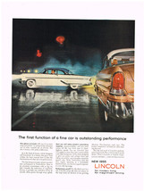 Vintage 1955 Magazine Ad Lincoln Stunning Beauty Functional Top Performance - $5.93