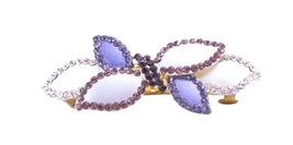 Amethyst Crystals Hair Barrette Trendy For Yourself Or Perfect Gift - $15.98