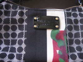 Vintage-Kate Spade-Handpainted Abstract-Small Black&White Signature Fabric Bag - $147.00