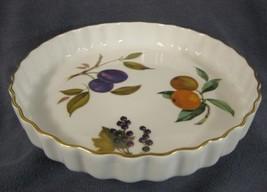 "Royal Worcester Evesham Gold 9"" Quiche Tart Dish Pan Baker Current Orang... - $27.95"