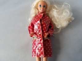 Vintage Barbie Francie 1965 Mattel Raincoat Jacket Red Polka Dot Doll Cl... - $23.24
