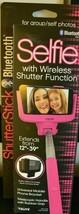 Tzumi Shutter Selfie Stick Bluetooth Wireless Shutter Function Hot Pink ... - $19.57