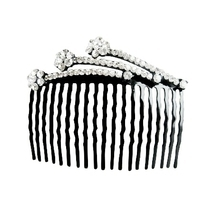 Comb Hair Pin White Crystals Decorated Perfect For Bridal Bridesmaid - $15.98