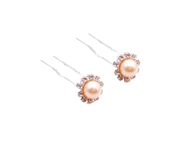 Hair Accessories Peach Hair Pin To Decorate Bridal Hair Pin - $6.88