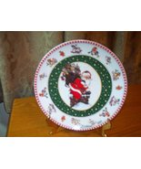 Christmas 1997 Giordano Art Ltd Collector Plate Santa - $6.95