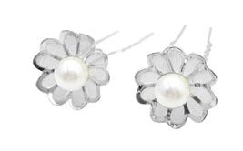 Elegant Hair Pin Flower Petal Wedding Bridal Hair Pin - $6.88