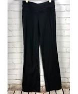 "LULULEMON Yoga Pants - Size 6 - Black Asymmetrical Waistband Bootcut 31""... - $31.68"