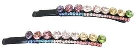 Sparkling Multicolored Rhinestones Hair Pin - $9.48