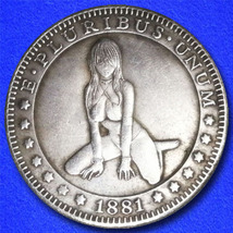 "Sexy Girl 4 ""Hobo Nickel"" on Morgan Dollar Coin ** - $3.79"